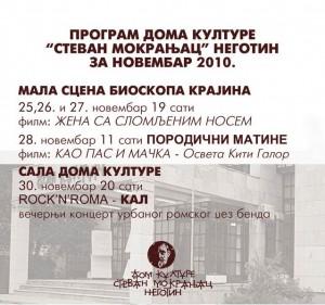 program Novembar 2010
